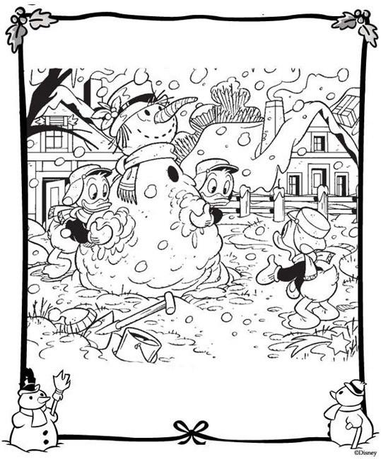 Coloriage et dessins gratuits L'hivers chez les Picsou à imprimer
