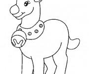 Coloriage Le renne de Noël