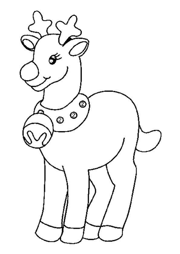 Coloriage le renne de no l dessin gratuit imprimer - Dessin renne de noel ...