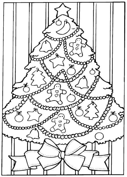 Coloriage et dessins gratuits Le sapin a des boules à imprimer