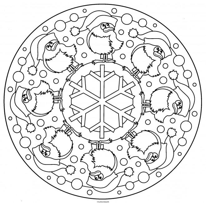 Coloriage et dessins gratuits Mandalas de Noël à imprimer