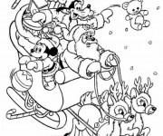 Coloriage et dessins gratuit Mickey bébé en Noël à imprimer
