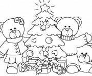 Coloriage Noël en famille