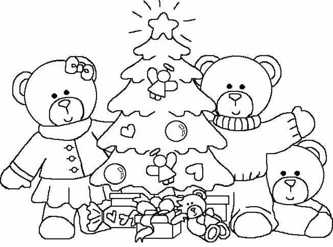 Coloriage et dessins gratuits Noël en famille à imprimer