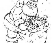 Coloriage et dessins gratuit Sac de cadeaux du Père Noël à imprimer