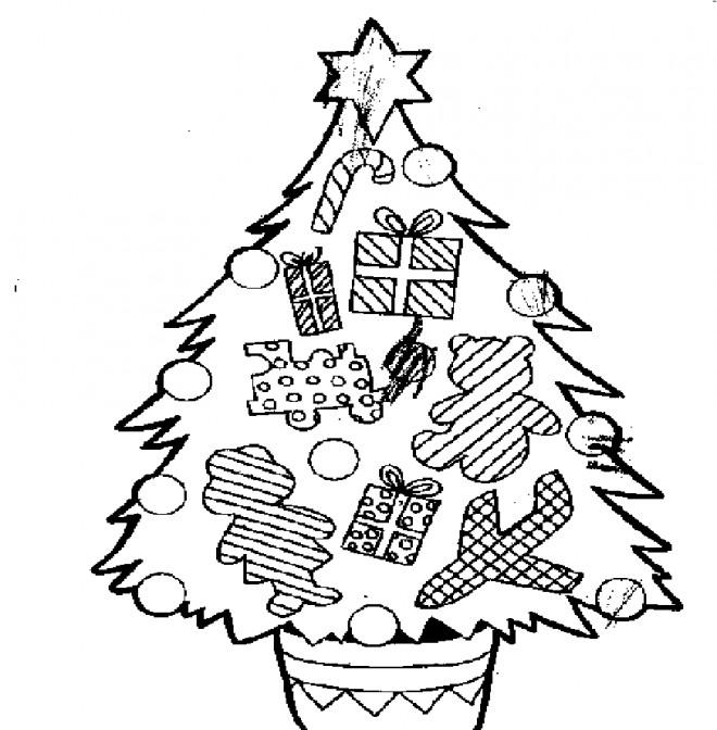 Coloriage et dessins gratuits Sapin de Noel à imprimer
