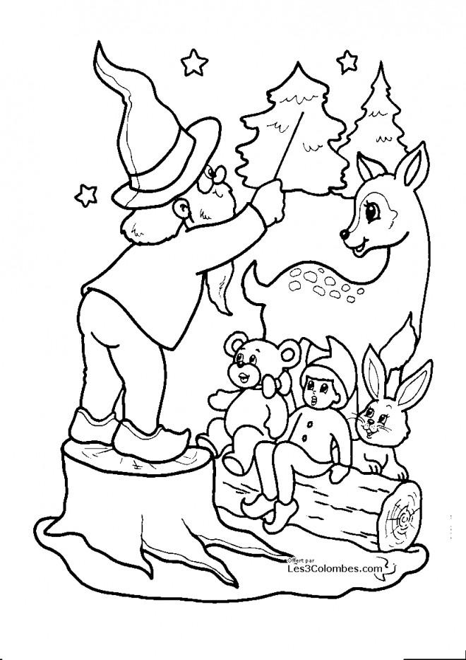 Coloriage et dessins gratuits Spectacle de Noël à imprimer