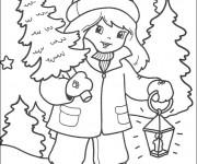 Coloriage Trouvons notre sapin de Noël