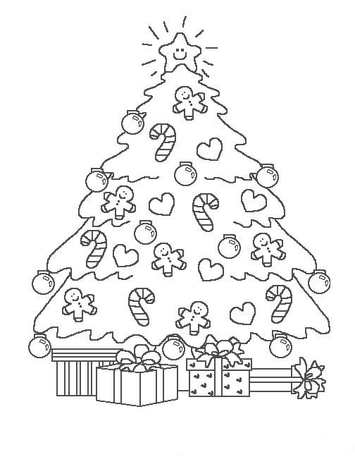 Coloriage et dessins gratuits Un autre beau sapin de Noël à imprimer