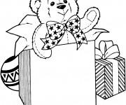 Coloriage et dessins gratuit Un ourson pour Noël à imprimer