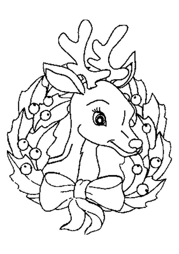 Coloriage un renne d cor pour no l - Dessin a colorier noel disney ...