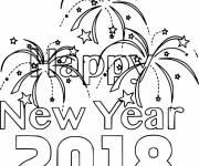Coloriage et dessins gratuit Bonne année 2018 à imprimer