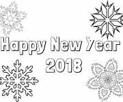 Coloriage et dessins gratuit Bonne année 2019 à imprimer