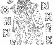 Coloriage et dessins gratuit Coloriage anti-stress Bonne annee 2 à imprimer