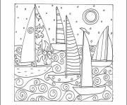Coloriage et dessins gratuit Coloriage anti-stress Bonne annee à imprimer