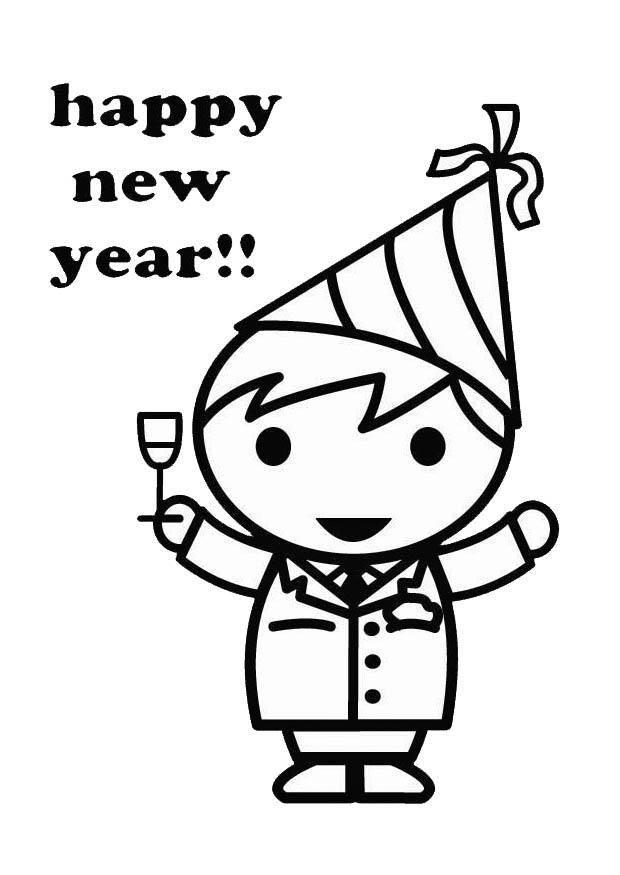Coloriage et dessins gratuits Fête Nouvel an à imprimer
