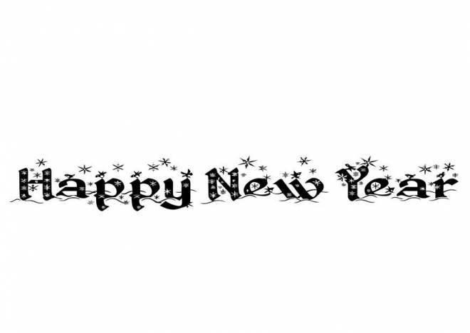 Coloriage et dessins gratuits Logo Happy new year à imprimer