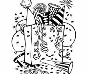 Coloriage et dessins gratuit Nouvel an bonne année à imprimer