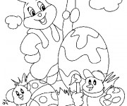 Coloriage Animaux de Pâques à colorier