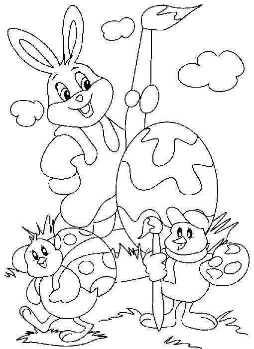 Coloriage et dessins gratuits Animaux de Pâques à colorier à imprimer