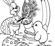 Coloriage Animaux de Pâques sur ordinateur