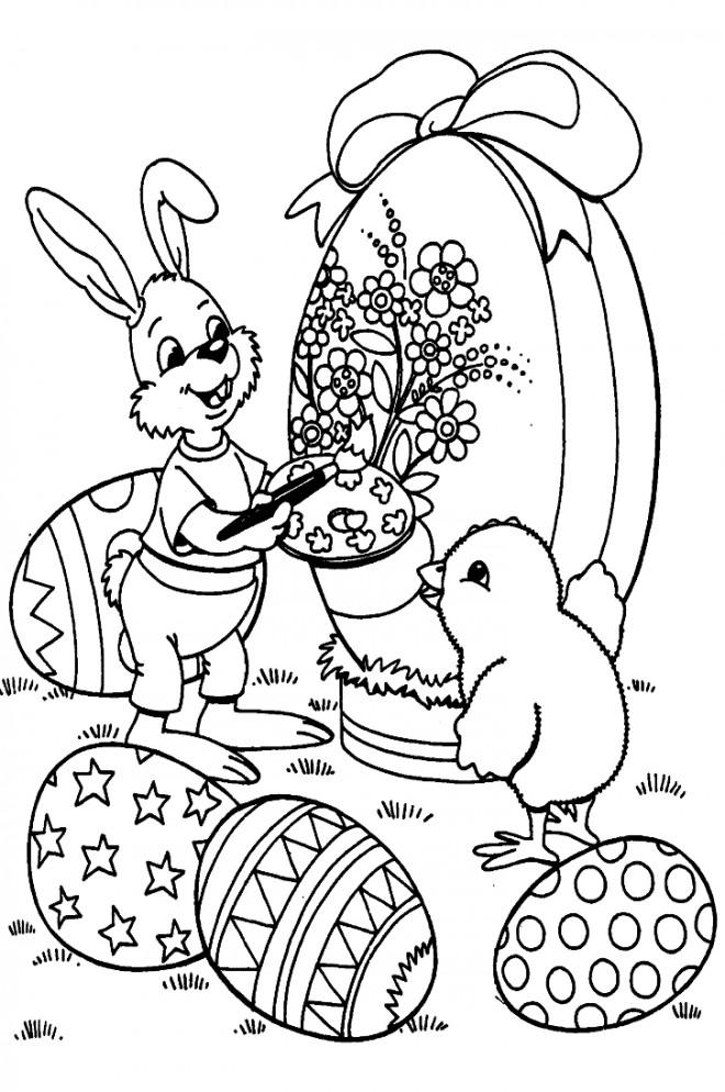 Coloriage et dessins gratuits Animaux de Pâques sur ordinateur à imprimer