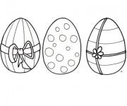 Coloriage Décoration fantastique d'oeufs de Pâques