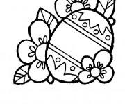 Coloriage Des fleurs pour Pâques