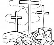 Coloriage Illustration de Pâques