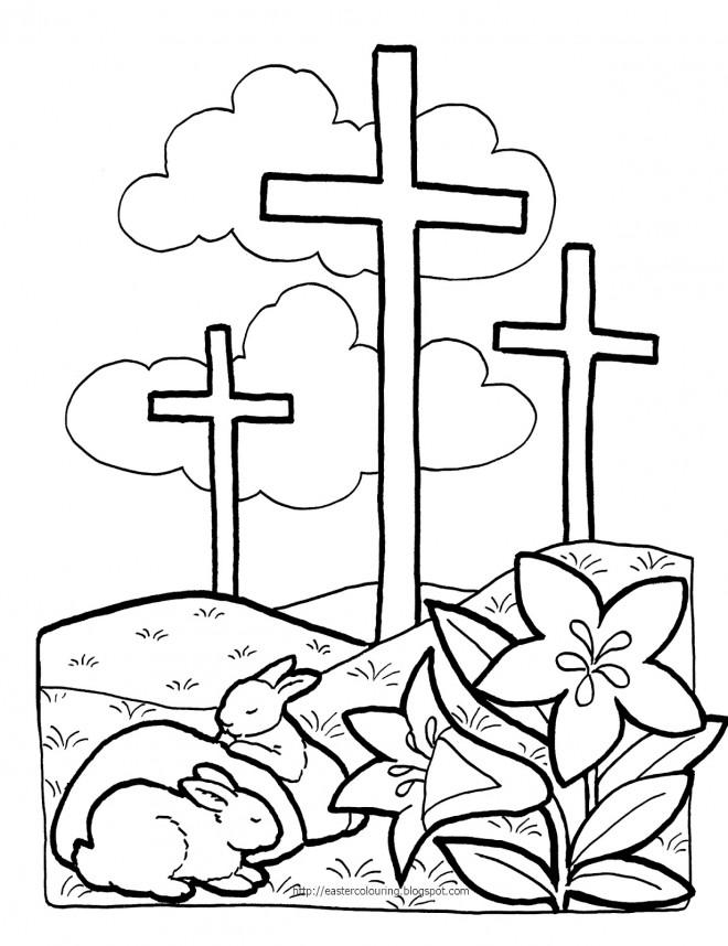 Coloriage et dessins gratuits Illustration de Pâques à imprimer