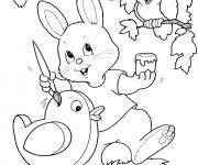 Coloriage Image Animaux de Pâques