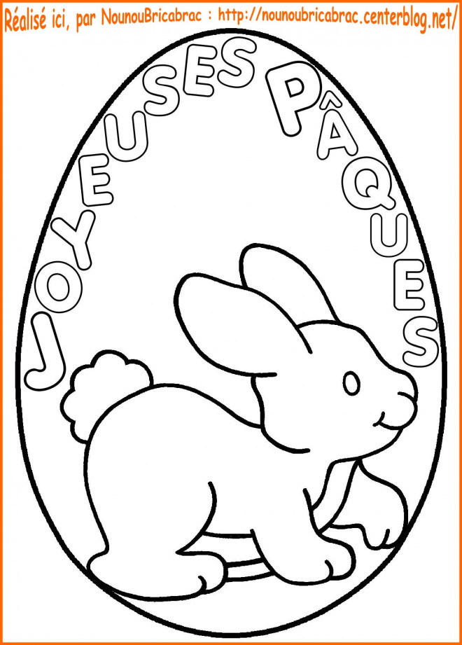 Coloriage joyeux p ques sur un oeuf dessin gratuit imprimer - Dessin de paques a imprimer gratuit ...