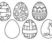 Coloriage La décoration des Oeuf  de Pâques