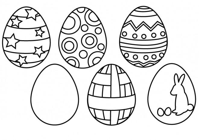 Coloriage et dessins gratuits La décoration des Oeuf  de Pâques à imprimer