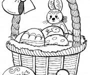 Coloriage et dessins gratuit Lapin de Pâques à imprimer