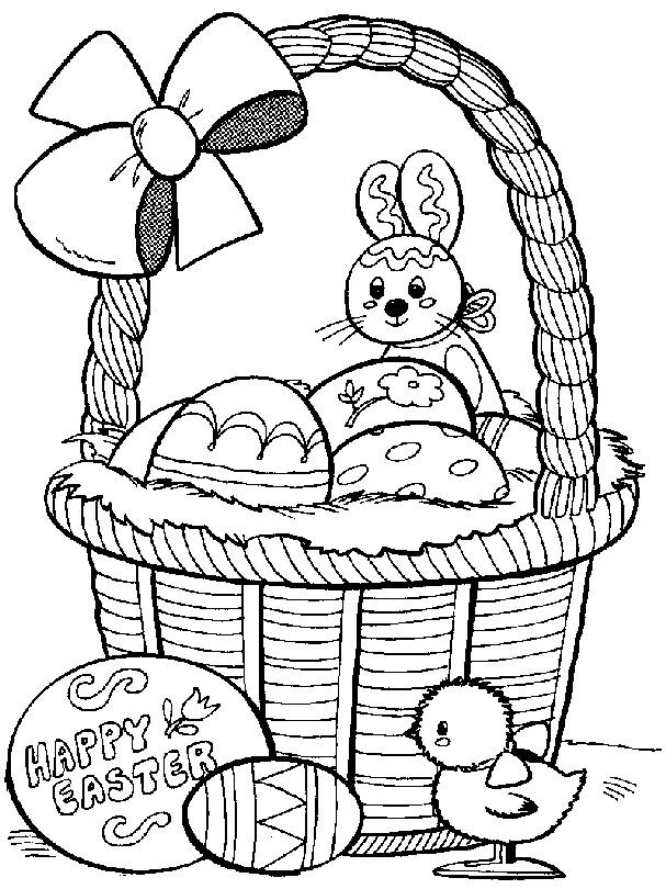 Coloriage et dessins gratuits Lapin de Pâques à imprimer