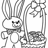 Coloriage et dessins gratuit Lapin de Pâques en couleur à imprimer