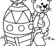 Coloriage et dessins gratuit Lapin de Pâques Géante à imprimer