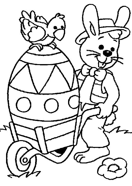 Coloriage et dessins gratuits Lapin de Pâques Géante à imprimer