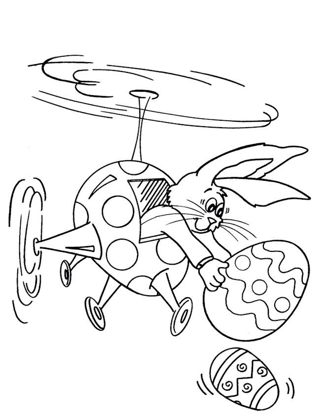 Coloriage et dessins gratuits Lapin de Pâques humoristique à imprimer