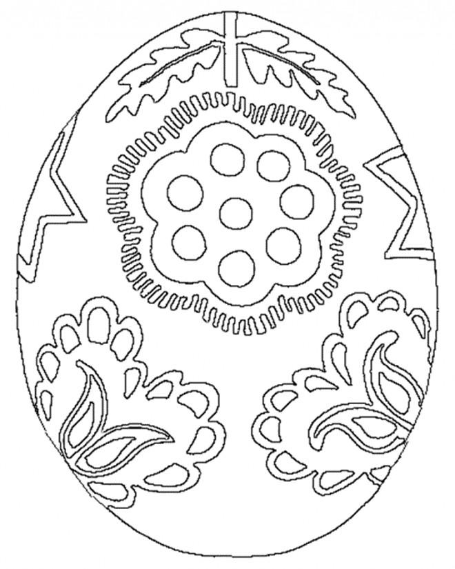 Coloriage Magnifique Oeuf de pâques dessin gratuit à imprimer