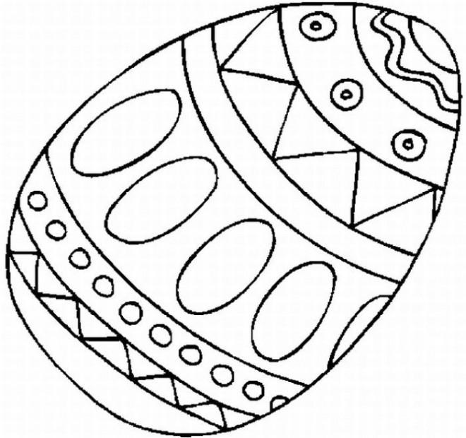 Coloriage et dessins gratuits Oeuf de Pâques à imprimer