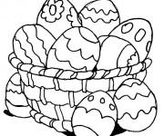 Coloriage et dessins gratuit Oeuf de pâques à compléter à imprimer