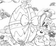 Coloriage Oeuf de pâques dessin animé