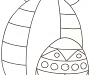 Coloriage Oeuf de Pâques  facile au crayon
