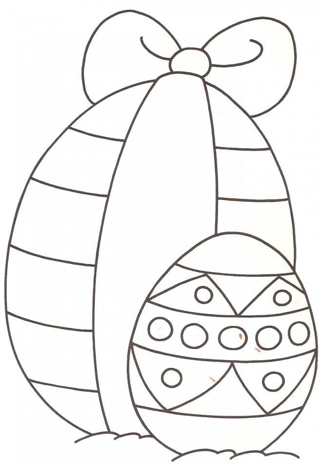 Coloriage et dessins gratuits Oeuf de Pâques  facile au crayon à imprimer