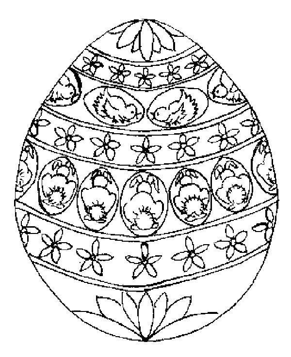 Coloriage et dessins gratuits Oeuf de Pâques mandala à imprimer