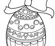 Coloriage Oeuf de Pâques originale