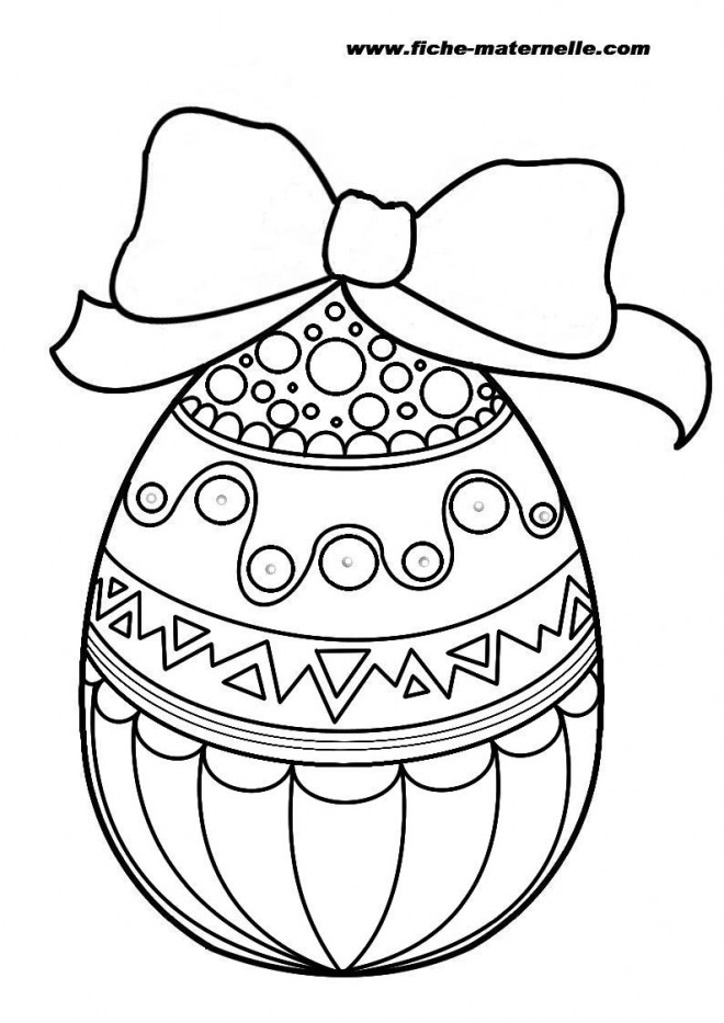 Coloriage et dessins gratuits Oeuf de Pâques originale à imprimer