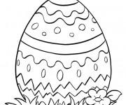 Coloriage et dessins gratuit Oeuf de Pâques simple à imprimer